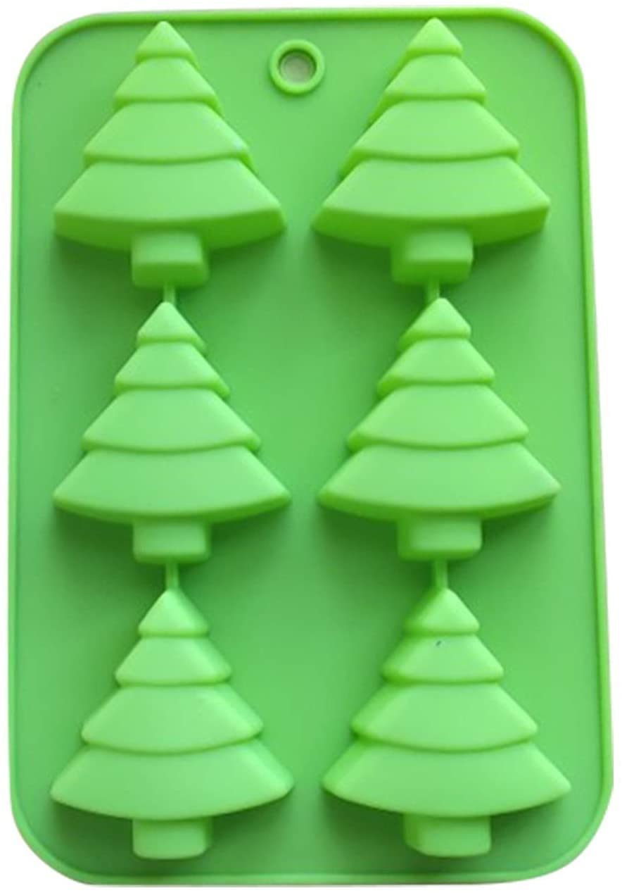 Christmas tree Chocolate Baking Silicone Mold, Cup Cake Chocolate Cake Candy Handmade Mold 1PC (Green)