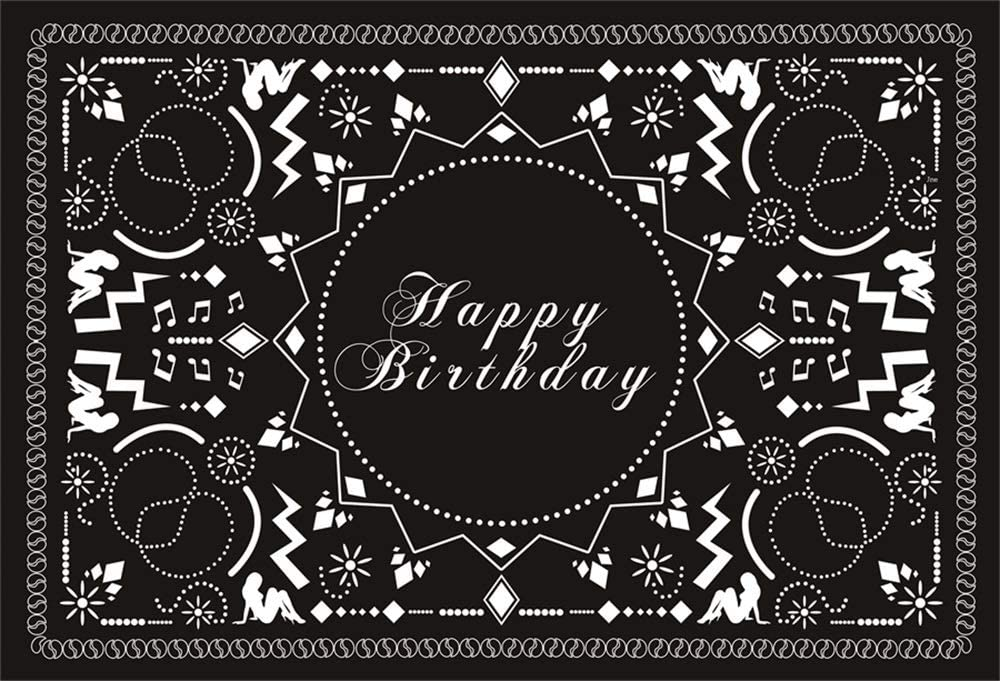 Baocicco 5x4ft Happy Birthday Backdrop Pattern Happy Birthday Backdrop Photography Background Boy Girl Children Adults Pattern Birthday Party Backdrop Photo Booth Portraits Studio Video Props