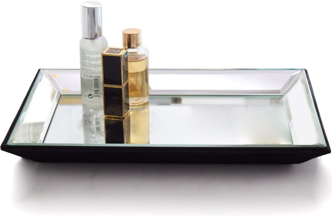 Meetart Rectangle 11x14 inch Vanity Organizer Decorative Mirror Tray Vanity tray Markup Jewelry tray Silver Tray For Home Decor.