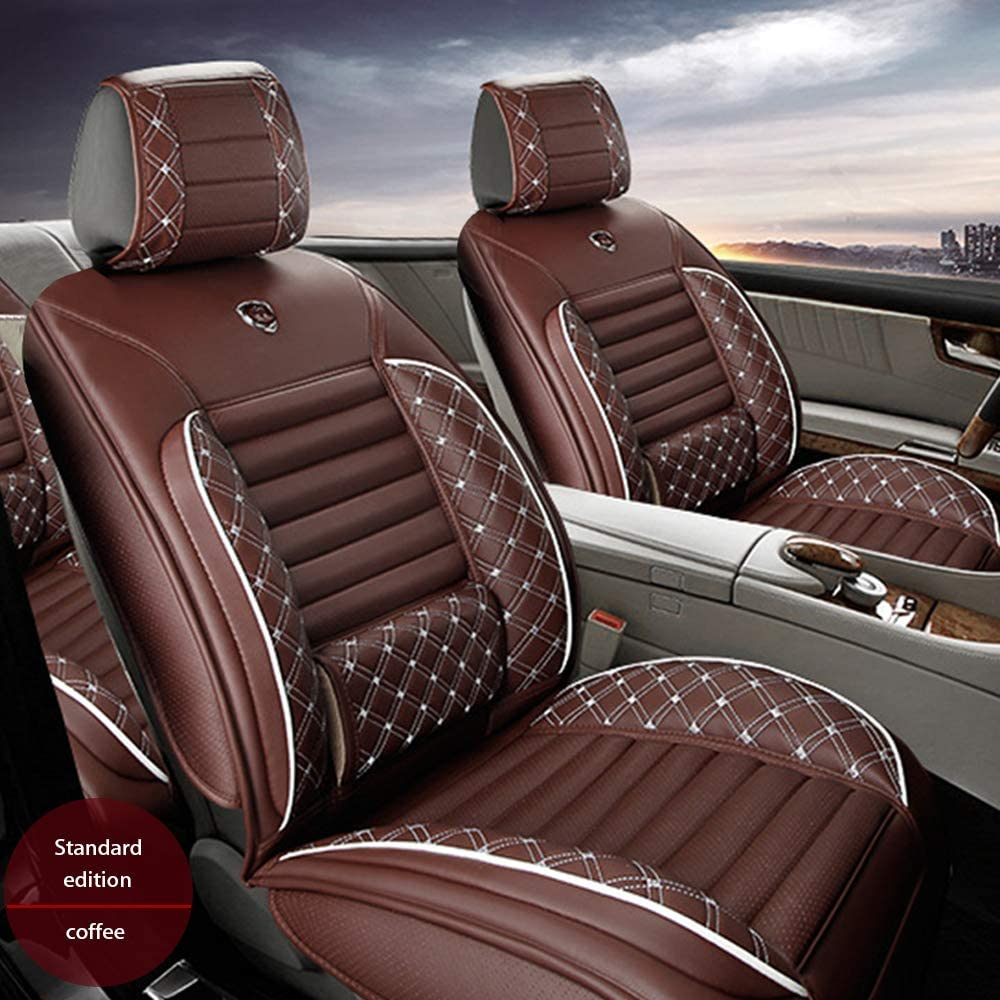 Maiqiken Custom Auto Seat Cover for Lexus RX330 Embroidered PU Leather Front Row Seat Cushion Car Pad Protector Full Surrounded