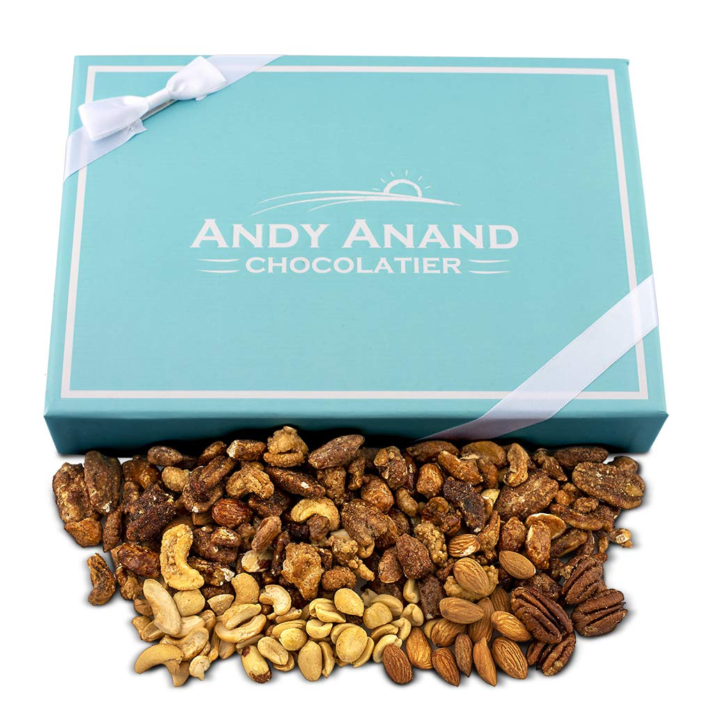 Andy Anand Roasted Butter Toffee Bridge of Pecans, Cashews, Almonds & Peanut, Fresh Crunchy Delicious Gift Box Greeting Card With Teddy Bear Birthday Christmas Mothers day