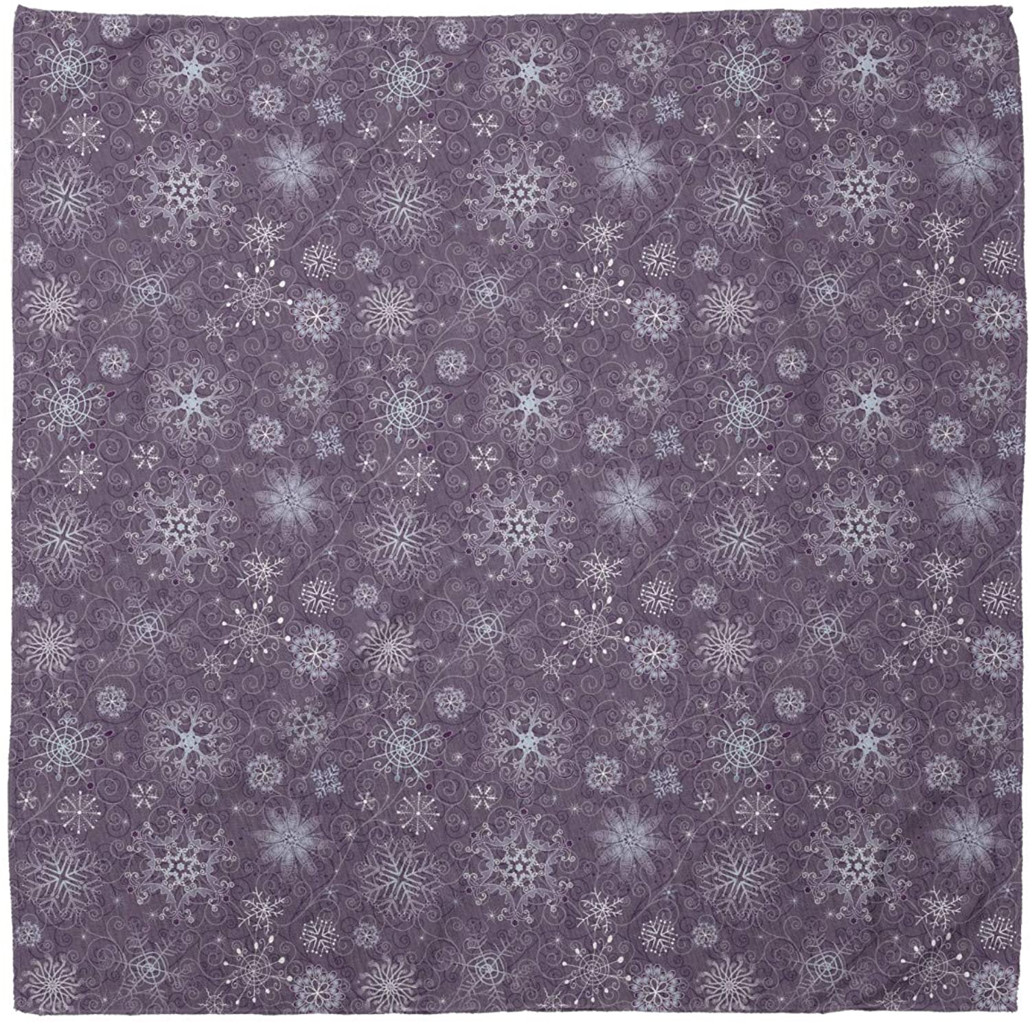 Ambesonne Snowflake Bandana, Christmas Flowers, Unisex Head and Neck Tie