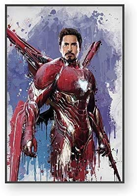 Canvas Painting Wall Art Poster Print Painting Wall Pictures for Home Decor Marvel Avenger Movie Superhero Deadpool Iron Spider Man Loki Paintings No Frame (N, 50X70CM)