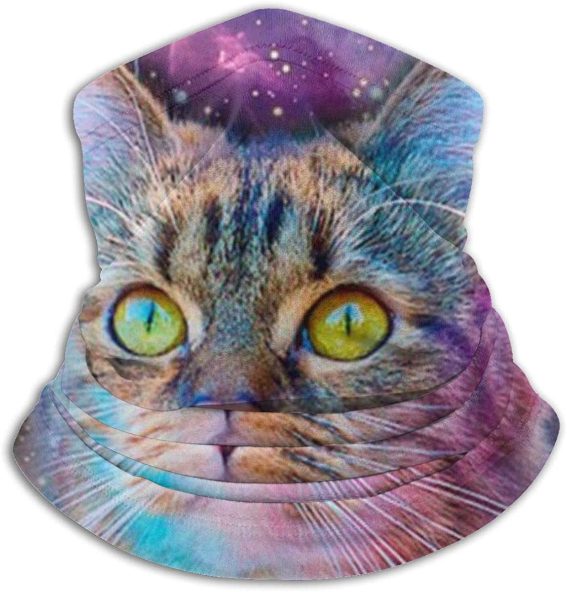 QBahoe Proud Cat with Space Unisex Outdoor Headwear Fleece Neck Warmer Comfortable Neck Gaiter Warmer Face Mask Winter Scarf for Cold Weather Winter Outdoor Sports