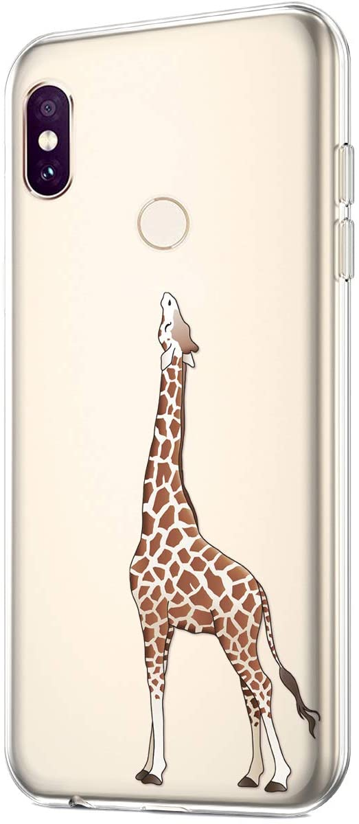 Case for Xiaomi Redmi Note 6 Pro,Clear Art Panited Design Soft TPU Ultra-Thin Transparent Flexible Soft Rubber Gel TPU Protective Case Cover for Xiaomi Redmi Note 6 Pro Silicone Case,Giraffe