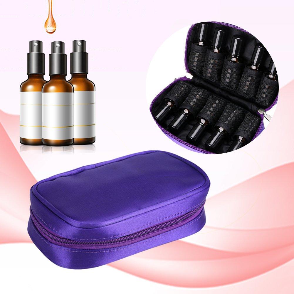 Essential Oil Storage Bags, Shockproof Portable Travel Essential Oil Holder Display Organizer Oils Storage Case(Purple)