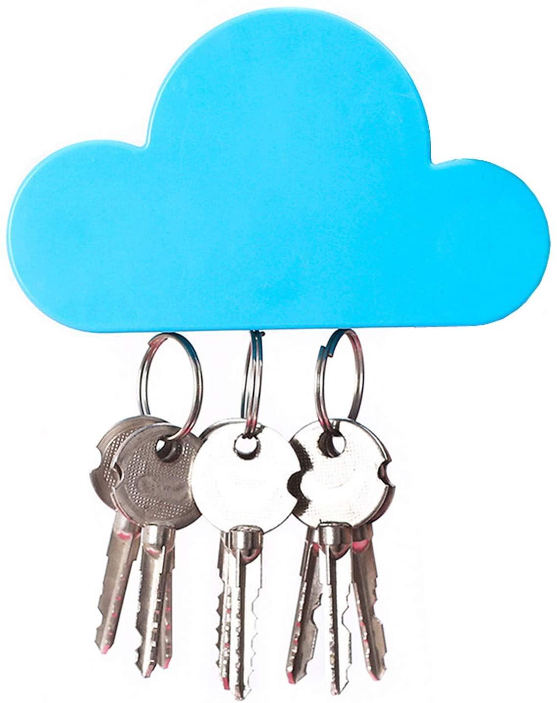 QTMY White Cloud Magnetic Wall Key Holder (Blue)