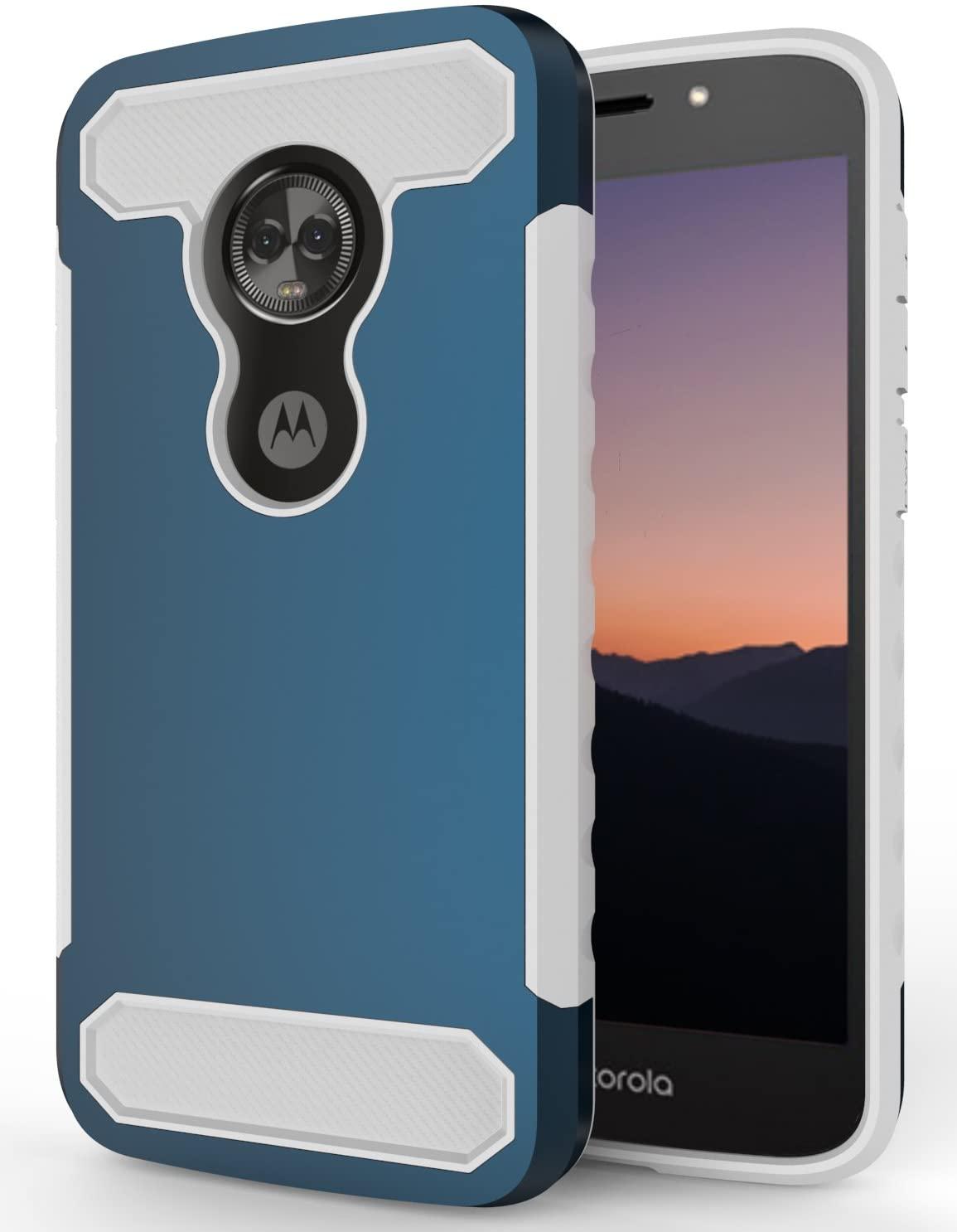 Moto E5 Play Case, Moto E5 Cruise Case, SENON Slim-fit Shockproof Anti-Scratch Anti-Fingerprint Protective Case Cover for Motorola Moto E5 Play 2018,Navy
