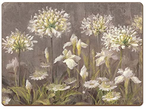 Cala Home 4 Premium Hardboard Placemats Table Mats, Spring Blossoms