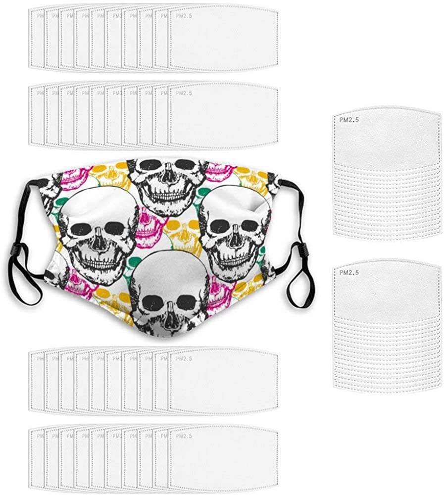 Face Protection And Filter 1+ 60 Durable Breathable - Skull with Floral