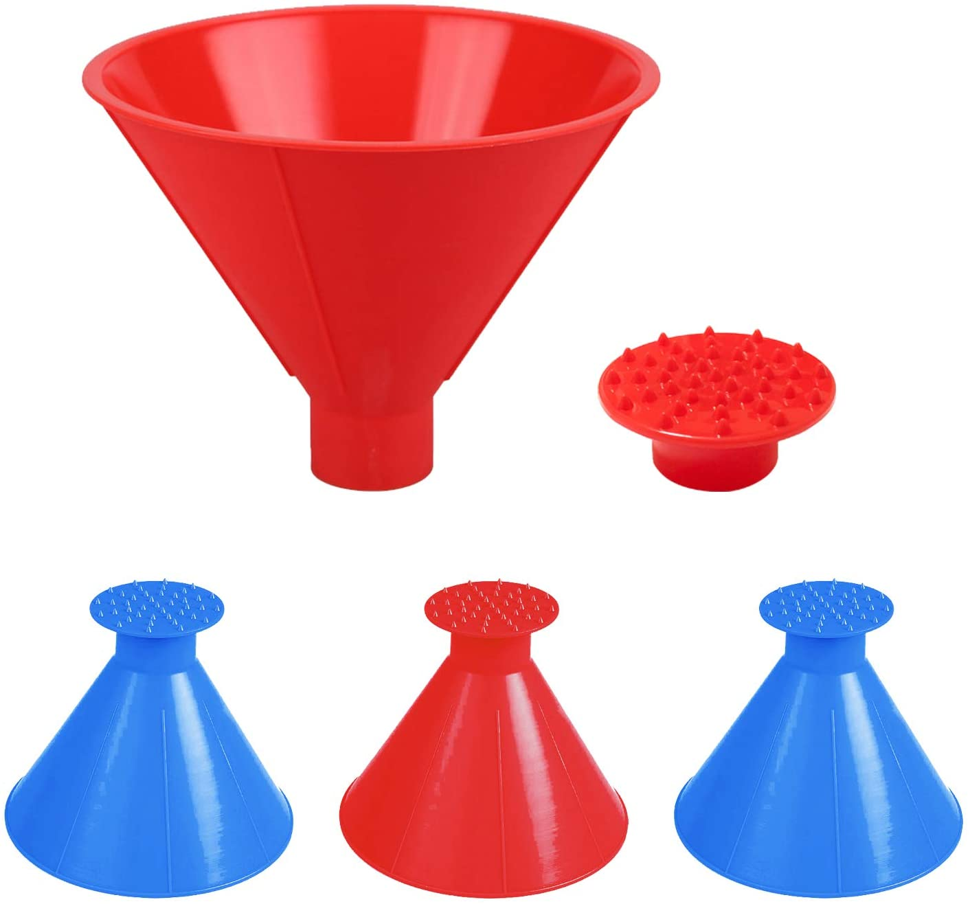 MAKHISTORY Magical Car Ice Scraper - 4Pack, Round Ice Scrapers for Car Windshield - Cone-Shaped Snow Remover Funnel with Four Ice Breakers