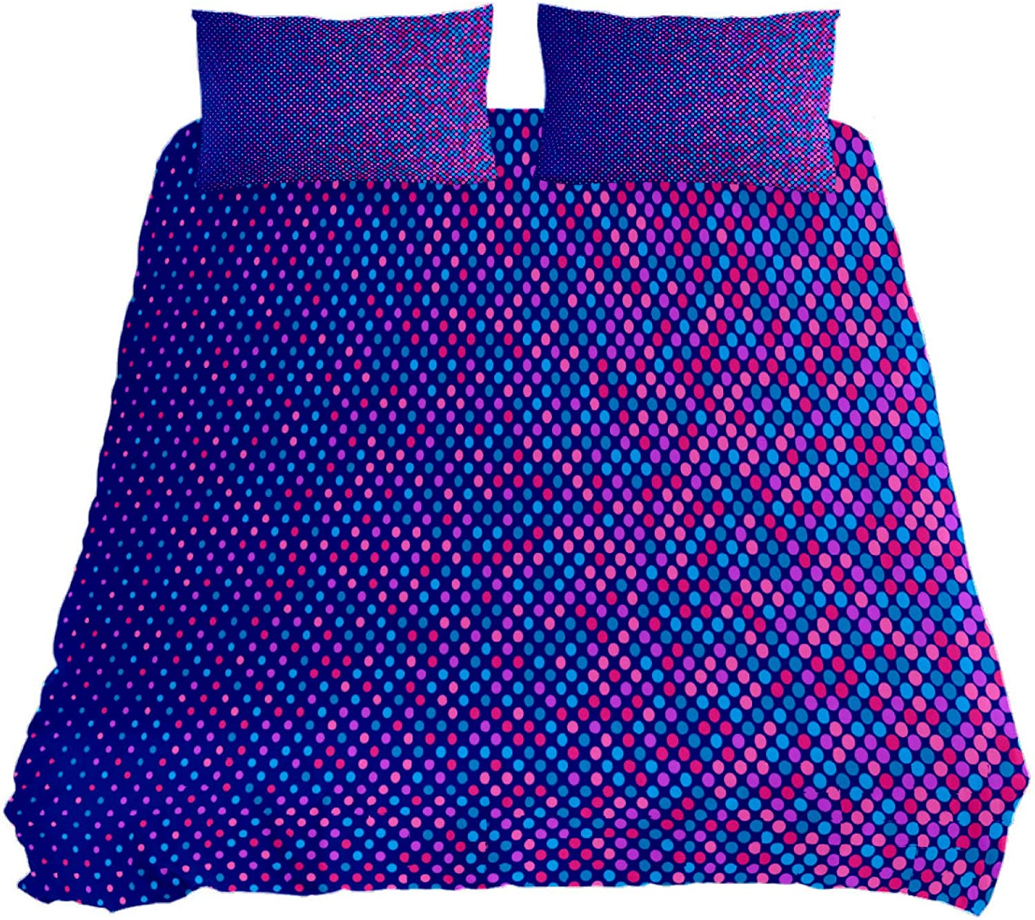 N\O Abstract Halftone Dot Star Bedding Sets Breathable Bedclothes 3 Pieces Bedding Duvet Cover Sets (1 Duvet Cover + 2 Pillowcases) Room Decor Ultra Soft Microfiber(NO Comforter Included)
