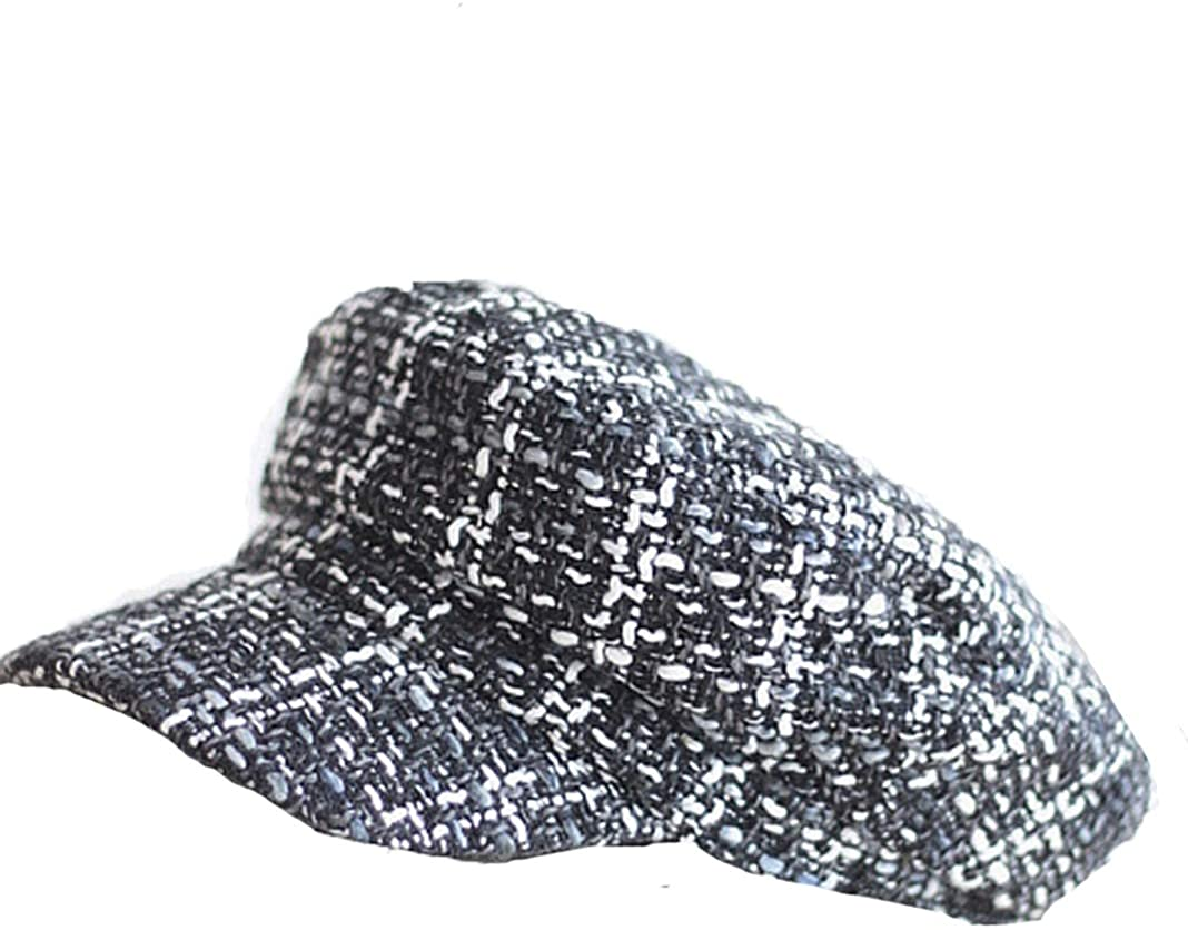 Women Vintage Newsboy Flat Cap Casual Plaid Painter Hat Checkered Autumn Artistic Berets Hats