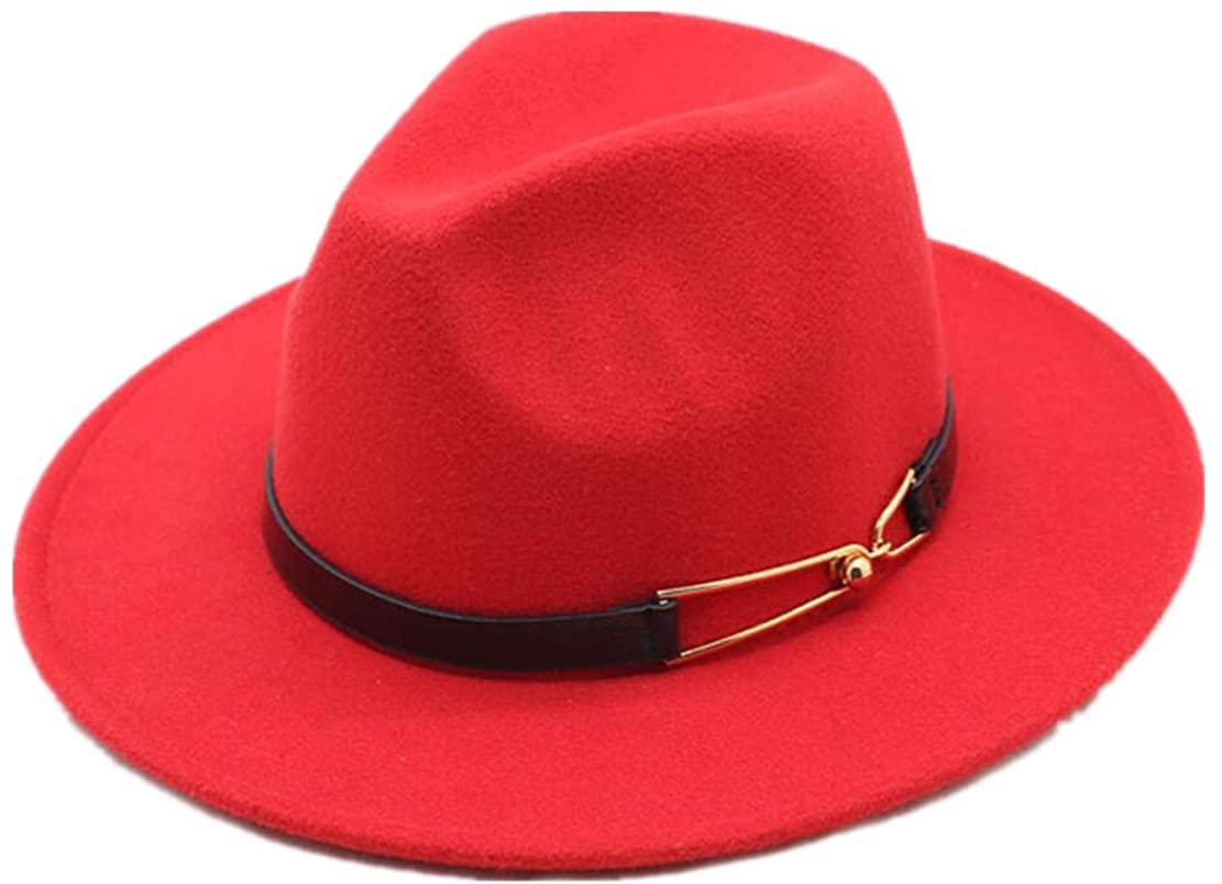 Unisex Stylish Fedora Hat Elegant Winter Cap Felt Hats Manhattan Sun Hat