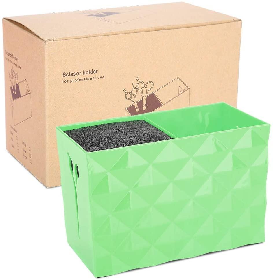 Nikou Hairdressing Storage Box-Beauty Salon Tool Accessories Storage Box Comb Hair Clip Dressing Table Storage Box(Green)