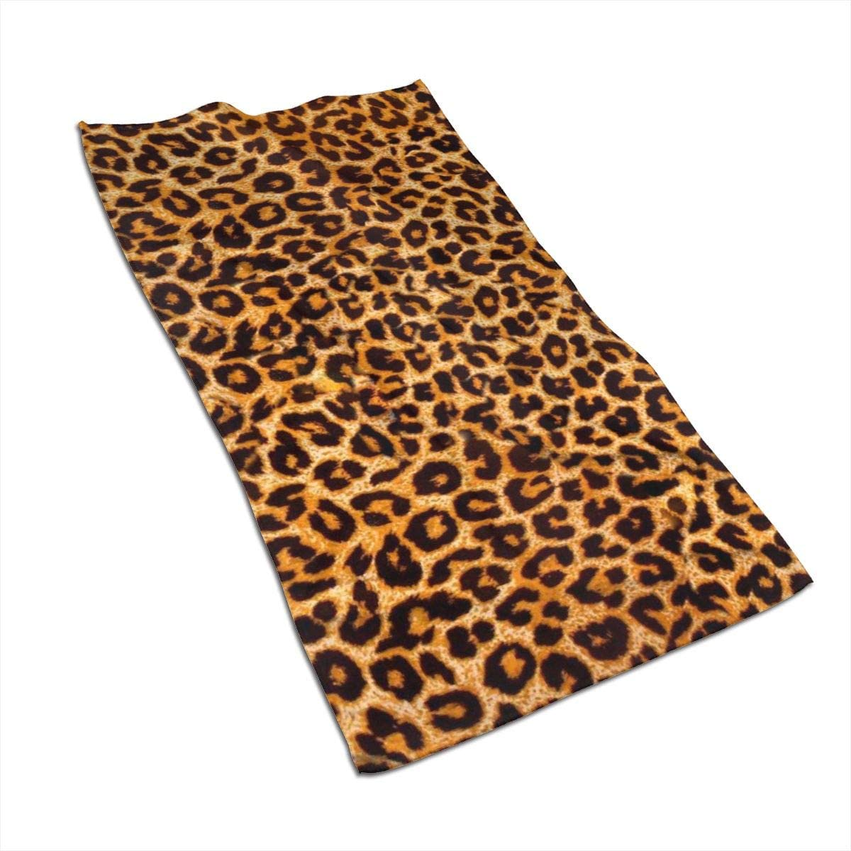 antcreptson Leopard Print 15.727.5 Inch Ultra Absorbent Quick Dry Soft Towels for Bathroom, Hotel and Spa Quality