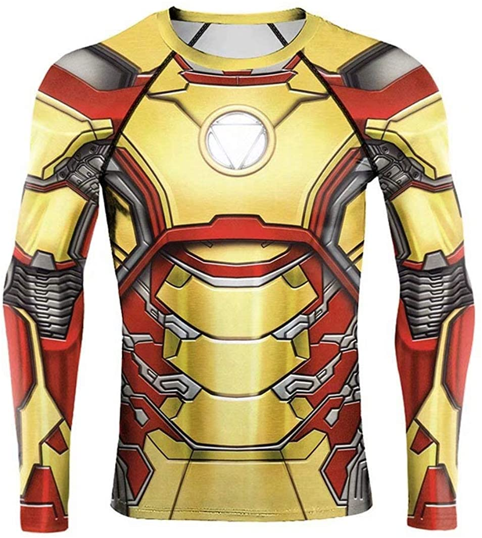 ALWAYSUV Super-Hero Compression Sport T-Shirt Long Sleeves Fitness Tee Gym Running Cycling Top M9