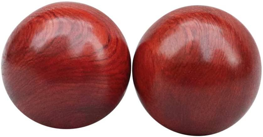 Artibetter Hand Massage Ball 6cm Wood Hand Massager Hand Exercise Roller for Men Women Home Gym Outdoor Exercise Tool 2pcs