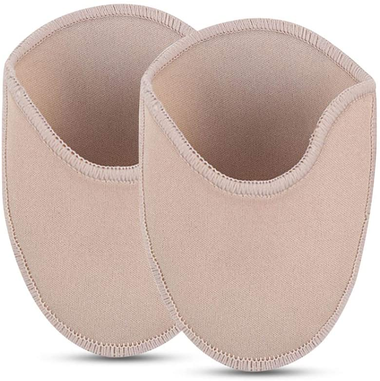 Ballet Dance Pointe Shoe Socks Pad, Toe Pouches Pad, Knitted Fabric Toe Cap Cover Toe Wrapped Protector Cushion Women Anti-Slip Toe Half Socks, Relief Forefoot Pain Point Shoes Ballet Slipper (Long)