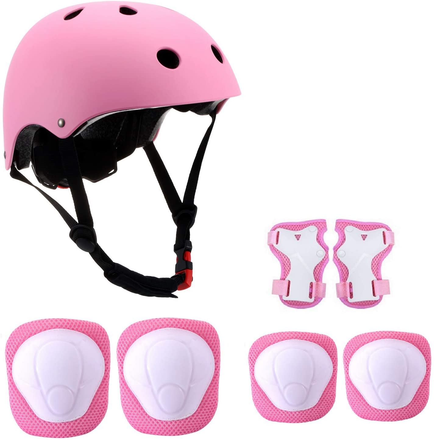 DOMEANYWAY Kids Adjustable Bike Helmet for Ages 3-8 Boys Girls with Sports Protective Gear Set Knee Elbow Wrist Pads for Bike/Skate/Rollerblade/Multi-Sport, CPSC Certified