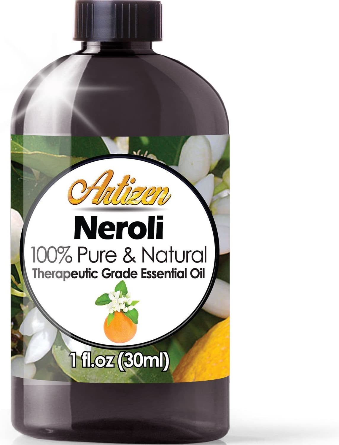 Artizen Neroli Essential Oil (100% Pure & Natural - UNDILUTED) Therapeutic Grade - Huge 1oz Bottle - Perfect for Aromatherapy, Relaxation, Skin Therapy & More!