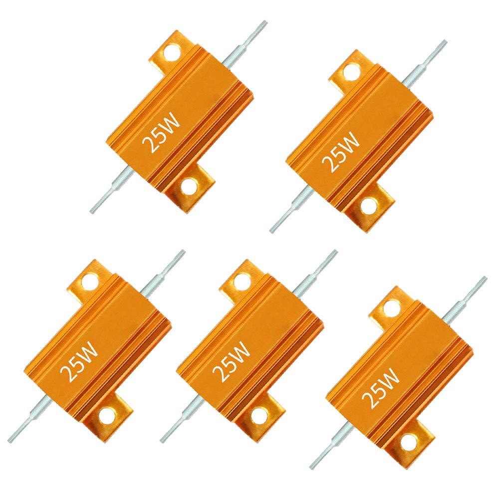 5Pcs Aluminium Clad Wirewound Resistor 47 Ohm 25W