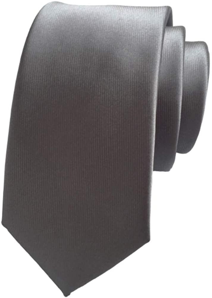 Mens Ties Solid Color Satin Tie Pure Color Neck Ties for Men
