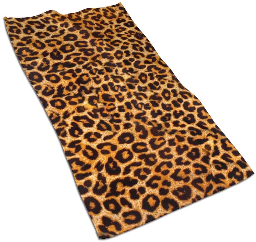 Leopard Print Microfiber Towel Ultra Soft and Comfortable Durable Tear Resistant Perfect for Bathroom