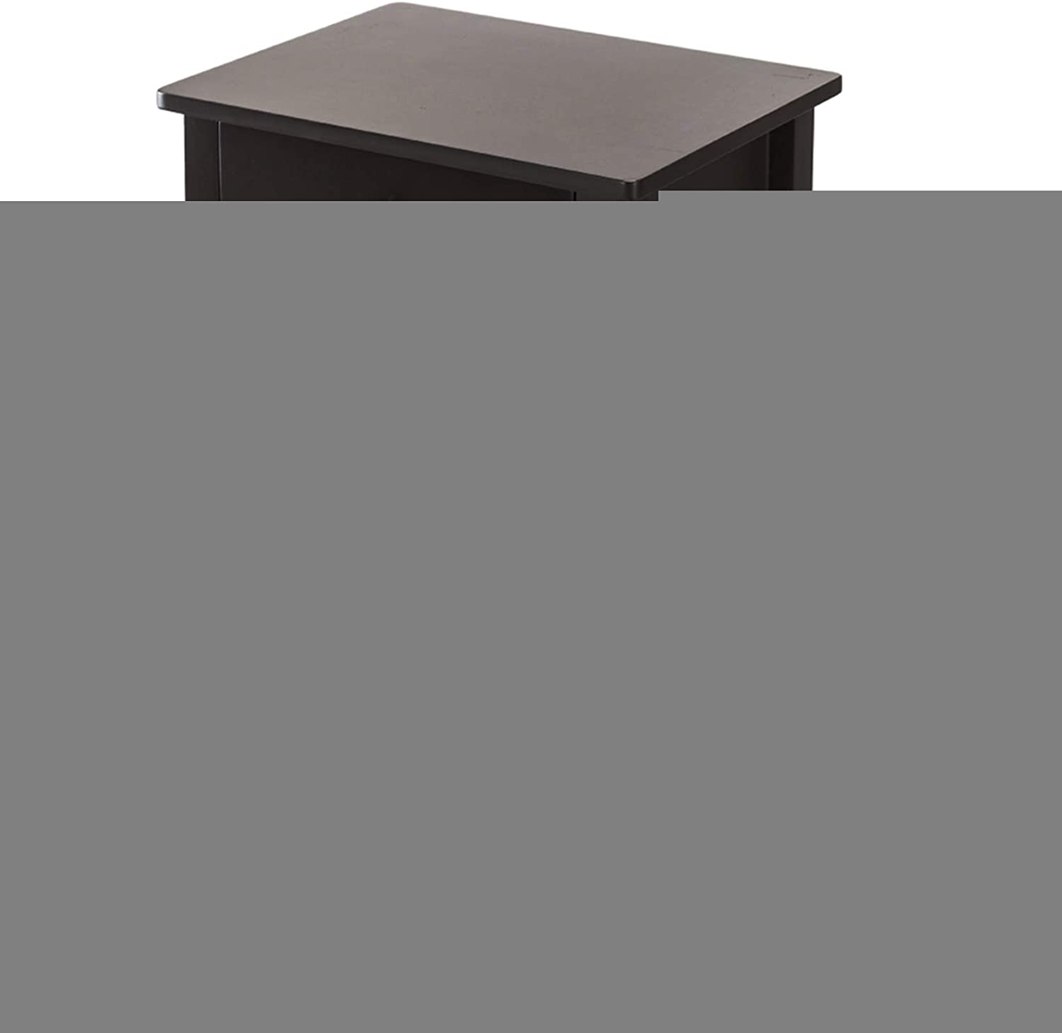2-Layer Bedside Table Coffee Table with Drawer Coffee - Simplistic End Table Corner Shelves for Studio, Home Living Room Bedroom