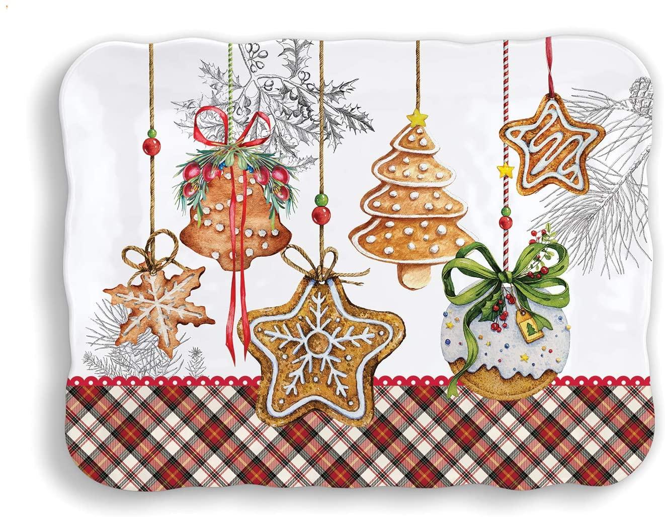 Michel Design Works Melamine Serveware Cookie Tray, Holiday Treats