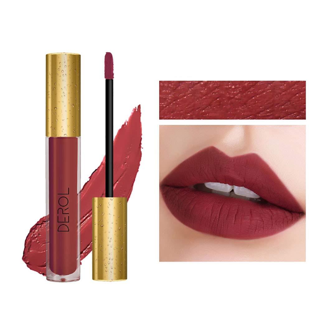 Edanta Matte Liquid Lipstick High Pigmented Cream Lipsticks Long Lasting lip Makeup Set for Women and Girls (Red 02#)