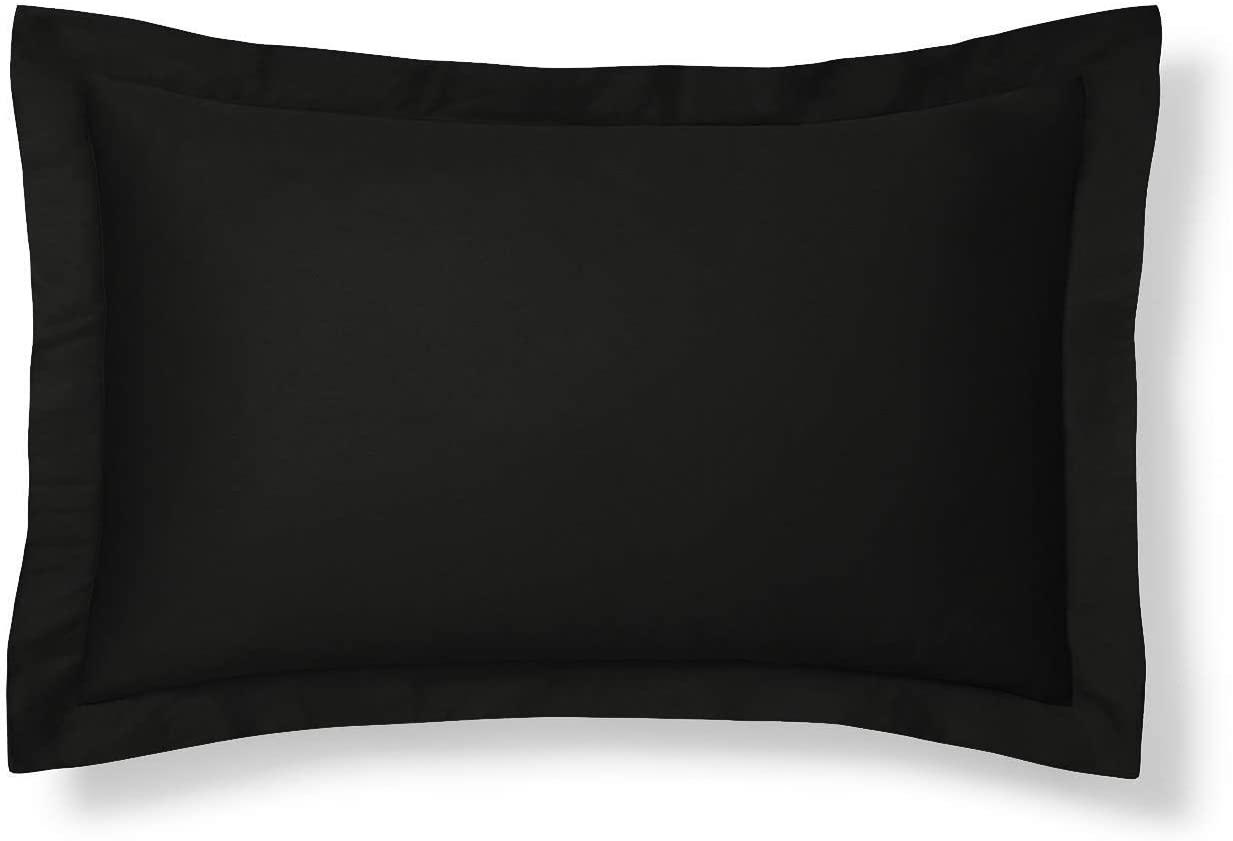 Black Pillow Sham, Euro Size Pillow Sham Decorative Pillow Shams Tailored