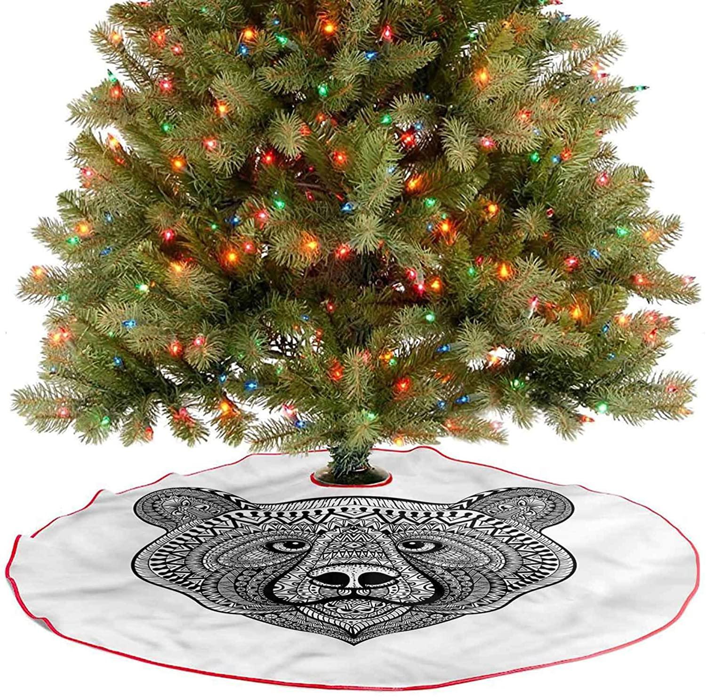 ThinkingPower Tree Mat Animal Face Boho Makhenda Christmas Party Decorations A Fabulous Addition to Your Christmas Tree Diameter - 30 Inch