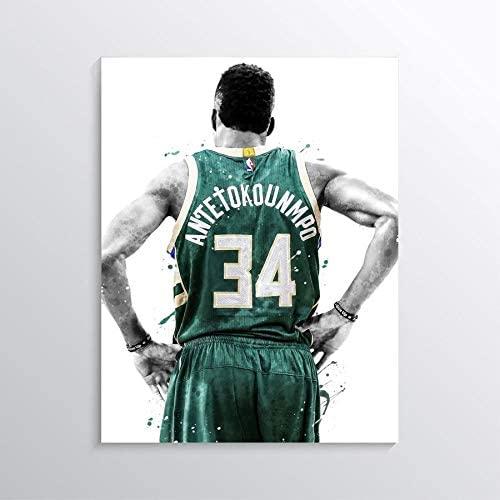 TikTok Studio Giannis Antetokounmpo Print, Giannis Antetokounmpo Poster, Milwaukee Bucks Poster, Basketball Wall Art, Basketball Decor, NBA Poster