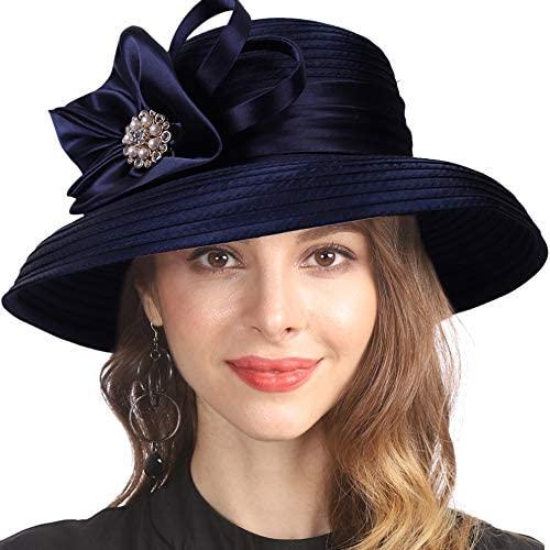 Lady Church Kentucky Derby Sun Hat Wedding Tea Party Dress Bowler Hat