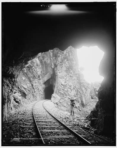 HistoricalFindings Photo: Tunnel Number 3,Three,Tamasopo Canyon,Canon,Railroad,Mountains,Track,Mexico,1880