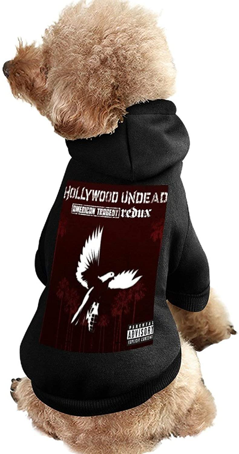 MissYo Hollywood Undead Dog Coat with Hat Funny Costume Winter Soft Dog Jumpsuit Pet Sweater Coat