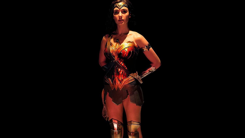 Diana of Themyscira Print, Gal Gadot Poster, Justice League Print, Justice League Poster, Wonder Woman Print, Black Background Poster, DC Comics Print