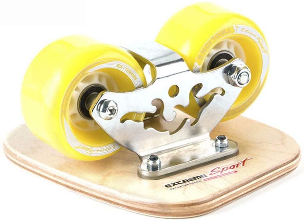 Skateboards Drift Skates Plate, Anti-Slip Roller Board, Drift Skating Board,Bamboo Split with 7244PU wear-Resistant Wheels