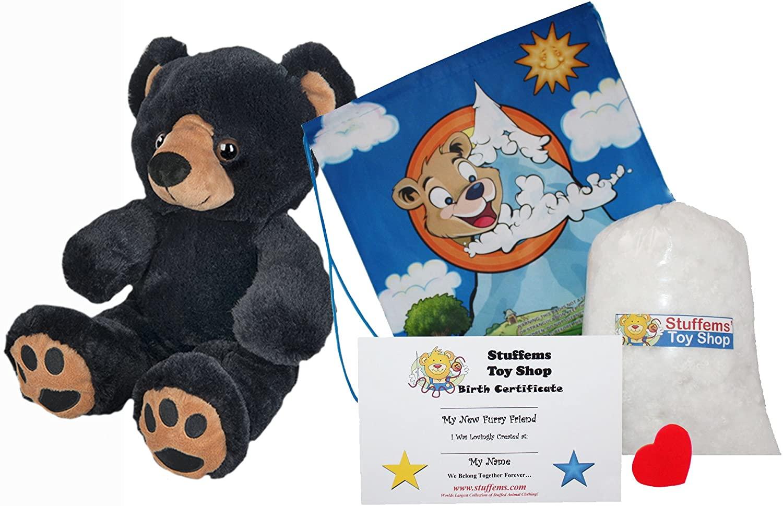 Make Your Own Stuffed Animal Benjamin The Black Bear Kit 16