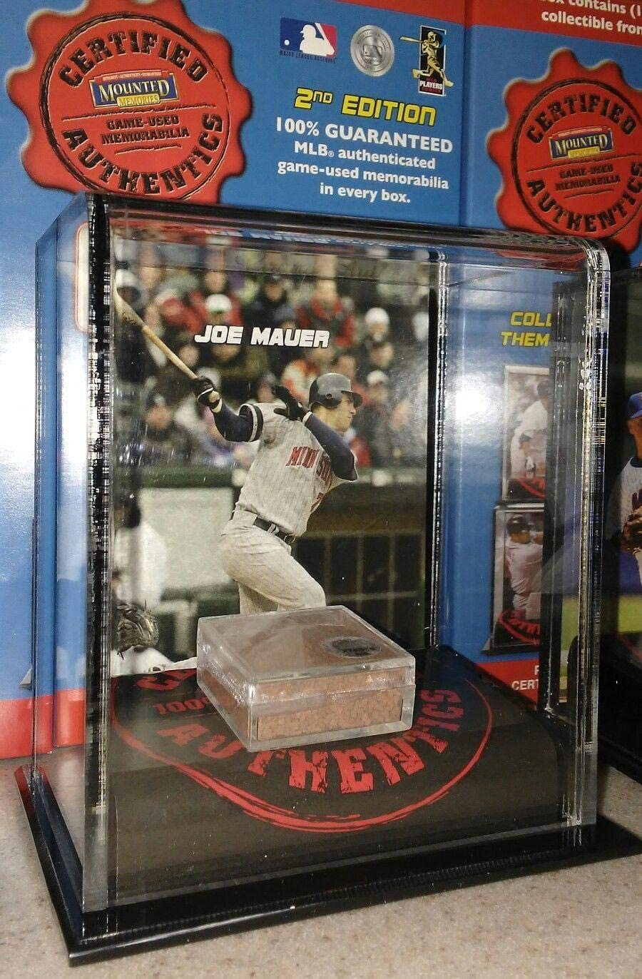 Joe Mauer Minnesota Twins 2007 Mounted Memories Game Used Dirt Display Case - Baseball Other Display Cases