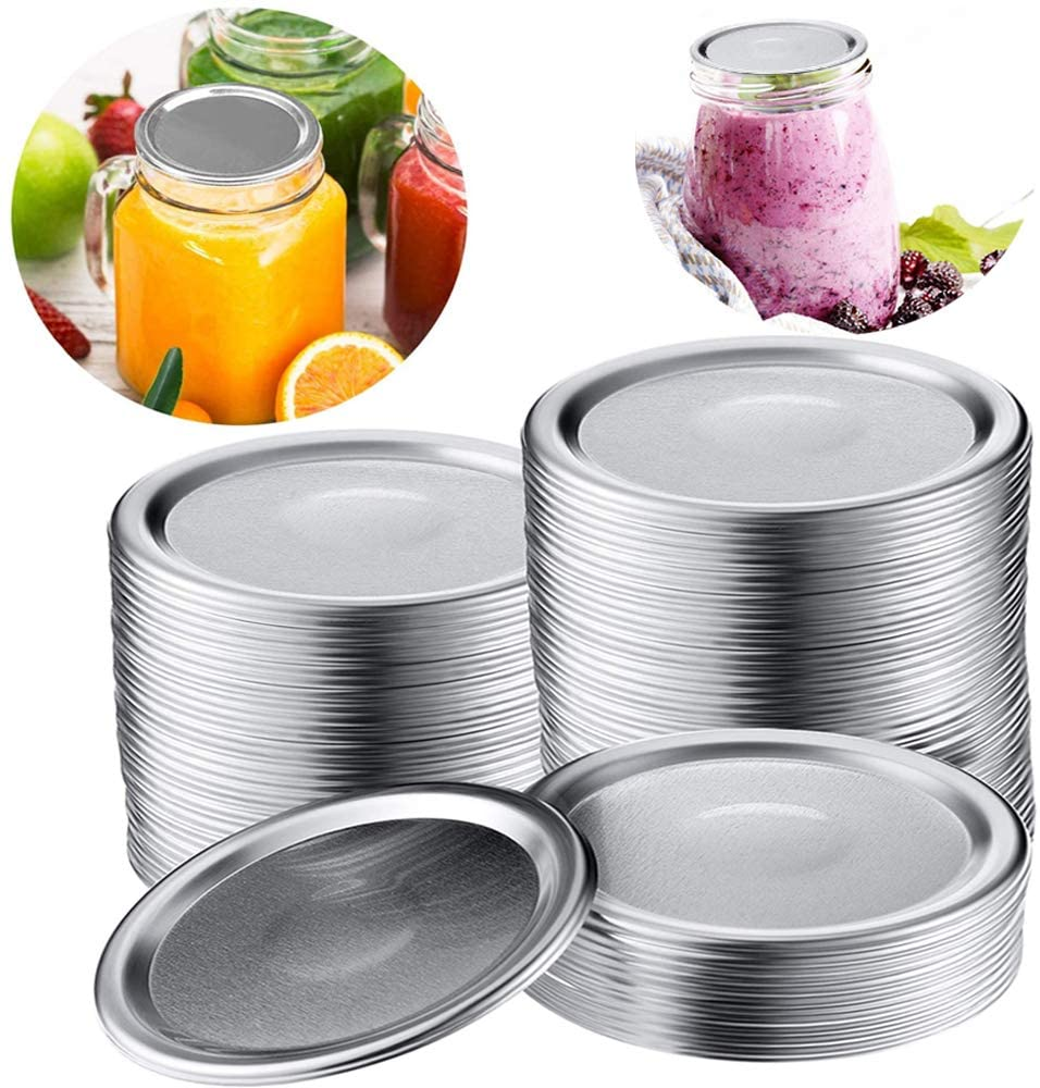 24 Regular Mouth Mason Jar Lids, Split-Type Canning Jar Lids with Leak Proof Silicone for Mason Jar Canning Lids(Regular 70mm) (Regular Mouth Jar Lids) (Regular 70mm)