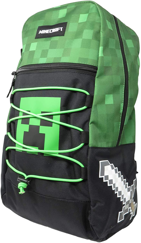 Minecraft Creeper Allover Print Backpack Bookbag