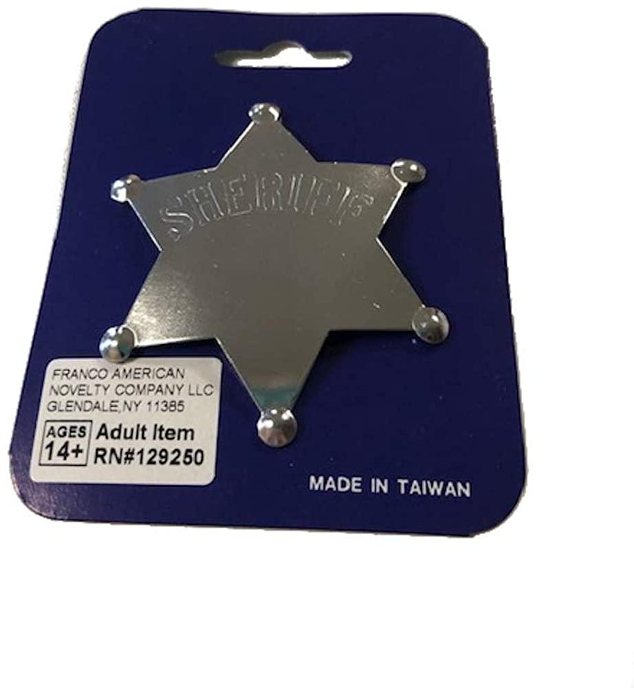 Franco American Novelty 701612 Sheriff Star Badge - Silver
