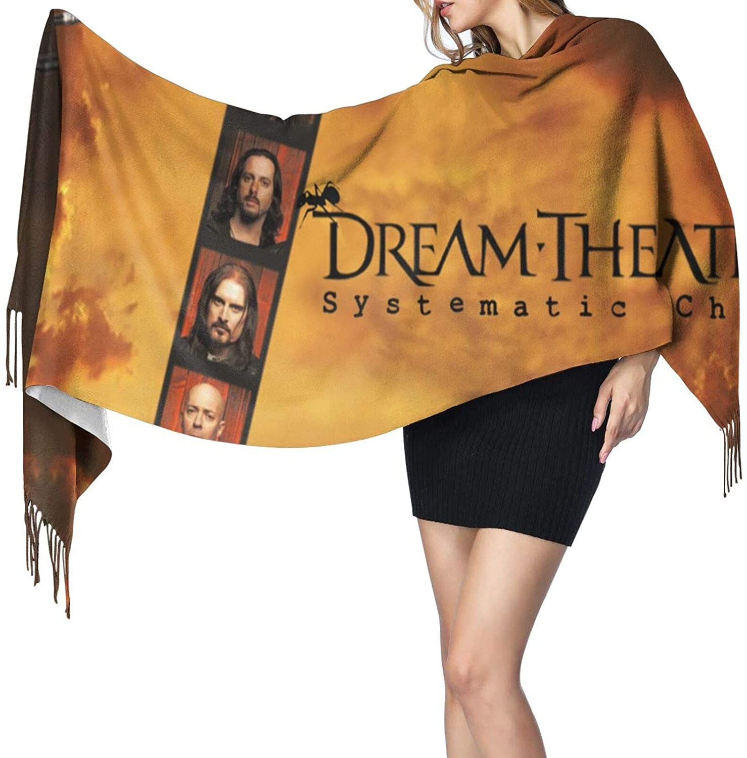 Vsldfjc Music Dream Theater 100% Cashmere Scarf, Cold Winter Super Soft Shawls Gift, Warm and Comfortable Scarves for Women Men
