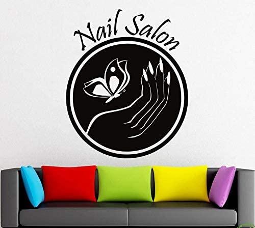 CECILIAPATER Wall Decal Window Sticker Beauty Salon Woman Face Nails Art Nail Salon Manicure Design t199