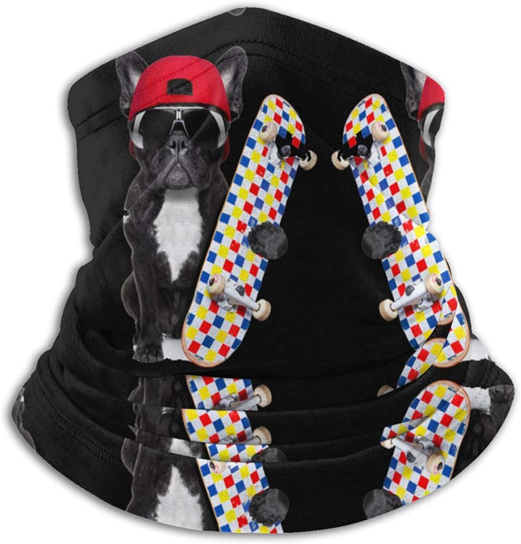 French Bulldog On Skateboard Smear Winter Soft Neck Face Covering For Bandana Face Scarf Headband