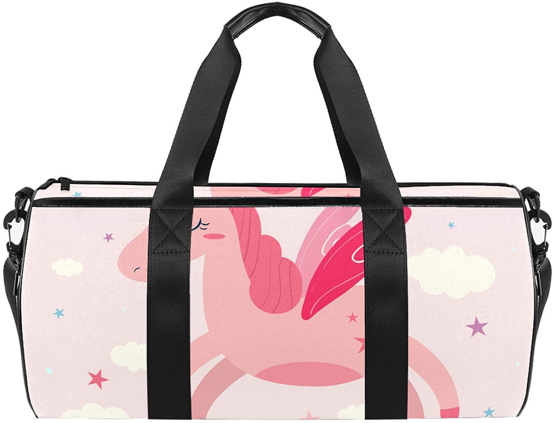 Sport Duffel Bag Cute Unicorn (25) Gym Bag Kids Swimming Bag Weekend Bag