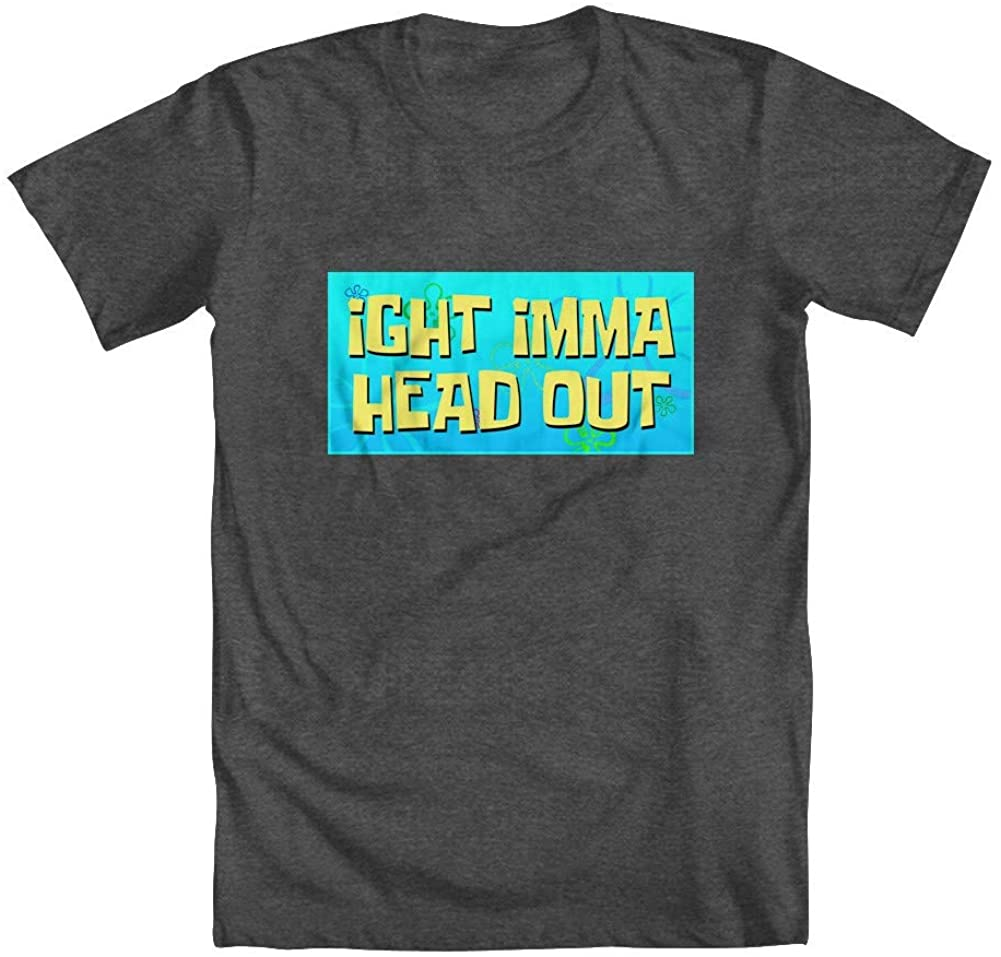 GEEK TEEZ Imma Head Out Men's T-Shirt Charcoal Small