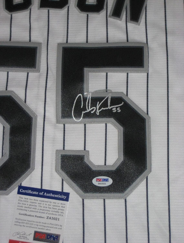 CARLOS RODON Signed WHITE White Sox Majestic Replica Jersey w/PSA COA - Autographed MLB Jerseys
